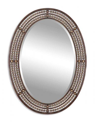 Matney Distressed Bronze Mirror