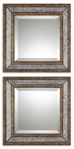 Norlina Squares Antique Mirror - Set of 2