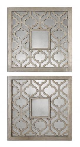 Sorbolo Squares Decorative Mirror - Set of 2