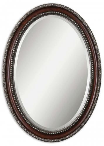 Montrose Oval Silver Mirror
