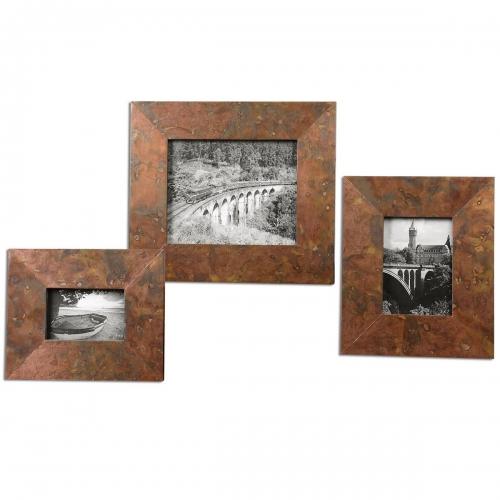 Ambrosia Copper Photo Frames - Set of 3