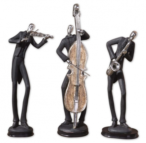Musicians Decorative Figurines - Set of 3