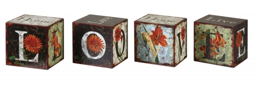 Love Letters Decorative Boxes - Set of 4