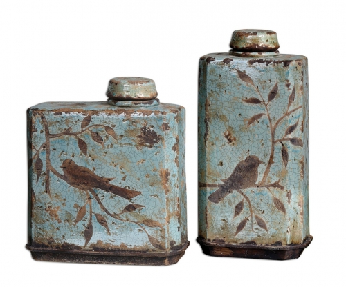 Freya Light Sky Blue Containers - Set of 2