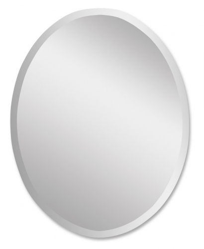 Frameless Large Oval Mirror
