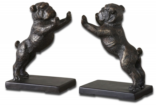 Bulldogs Cast Iron Bookends - Set of 2