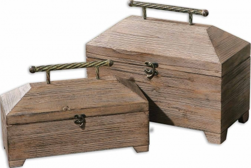 Tadao Natural Wood Boxes - Set of 2