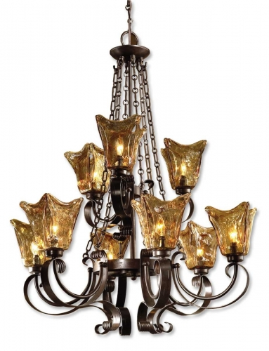 Vetraio 9Lt Oil Rubbed Bronze Chandelier