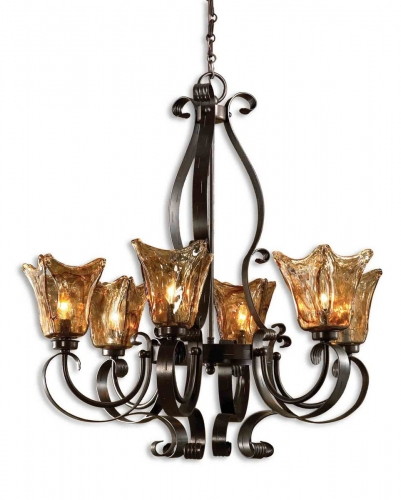 Vetraio 6Lt Oil Rubbed Bronze Chandelier