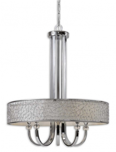 Brandon Nickel 5 Light Shade Chandelier