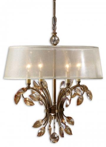 Alenya 4 Light Gold Metal Chandelier