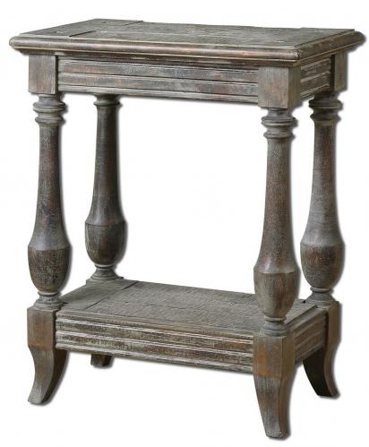 Mardonio Distressed Side Table