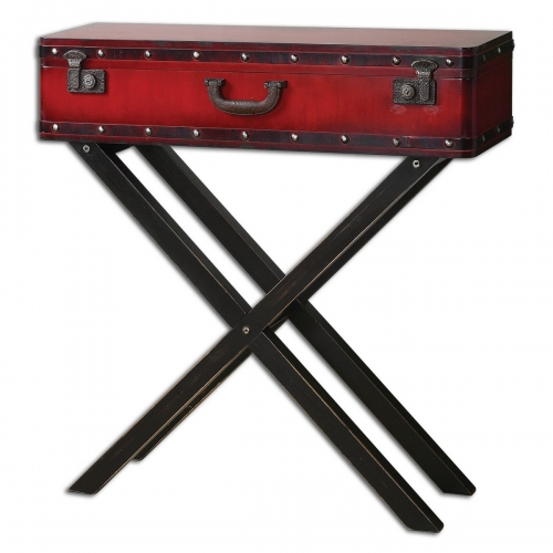Taggart Red Console Table