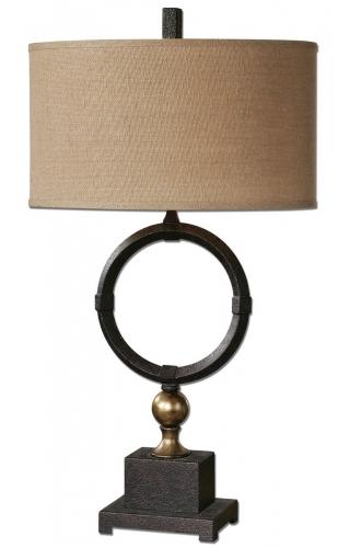 Pueblo Black Circle Table Lamp