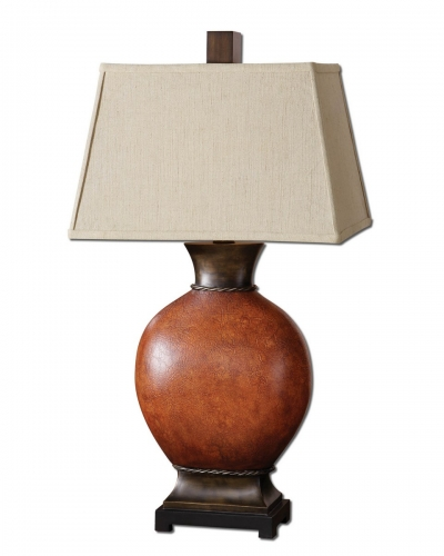 Suri Brunished Red Table Lamp