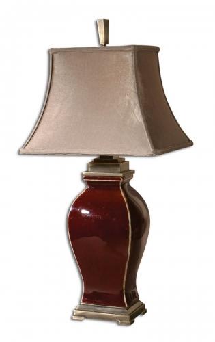 Rory Burgandy Table Lamp
