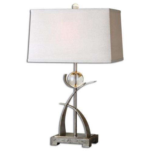 Cortlandt Curved Metal Table Lamp