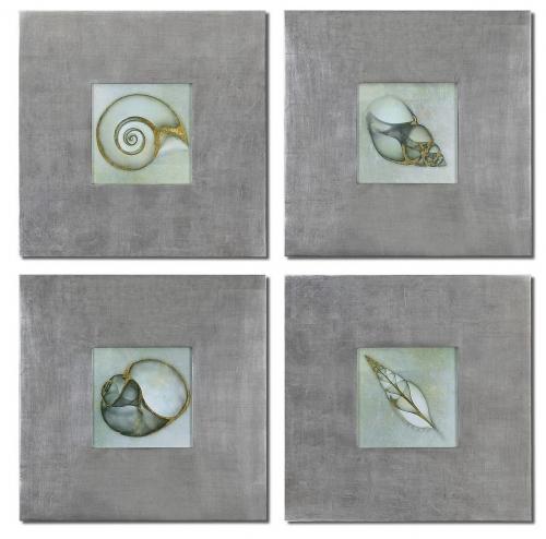 Neptunes Garden Framed Art - Set of 4