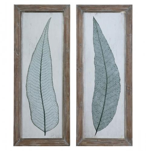 Tall Leaves Framed Art - Set of 2