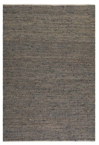 Tobais 8 X 10 Rescued Leather & Hemp Rug