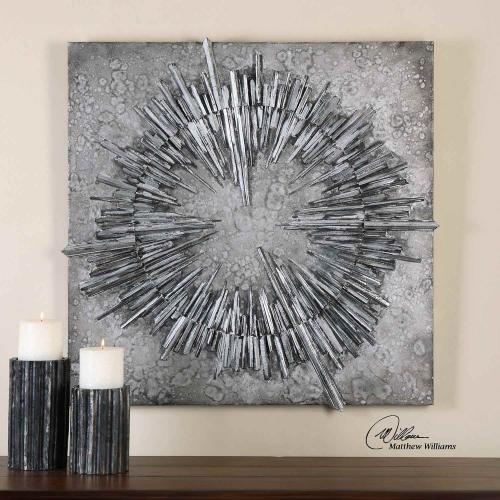 Nebulus Silver Wall Art