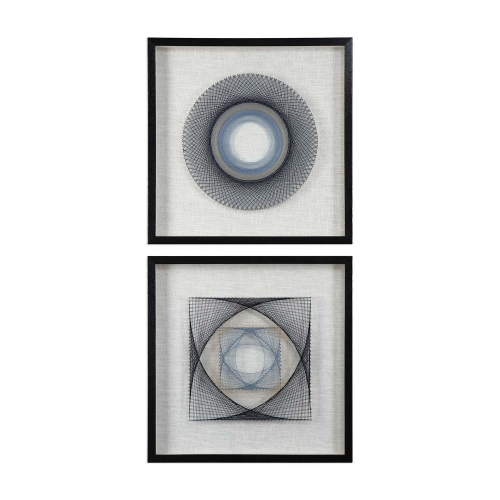 String Duet Geometric Art - Set of 2
