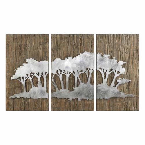 Safari Views Silver Wall Art - Set of 3