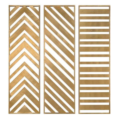 Zahara Panels - Set of 3 - Gold
