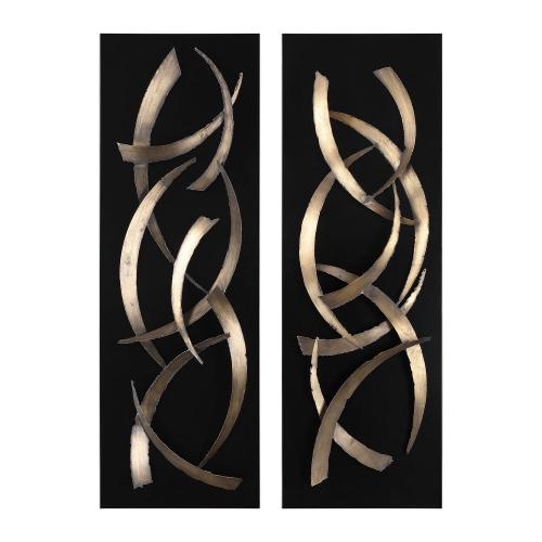 Brushstrokes Metal Wall Art - Set of 2