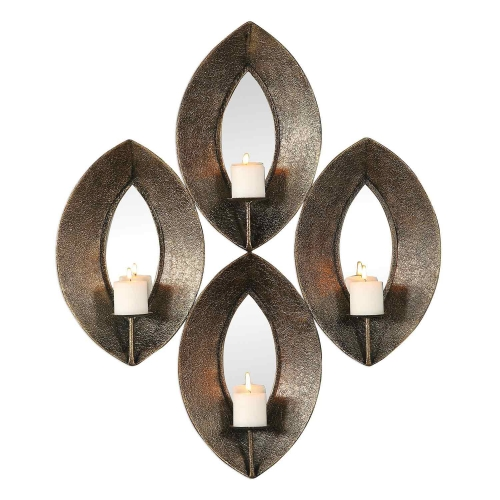 Nina 4-Candle Sconce - Antique Bronze