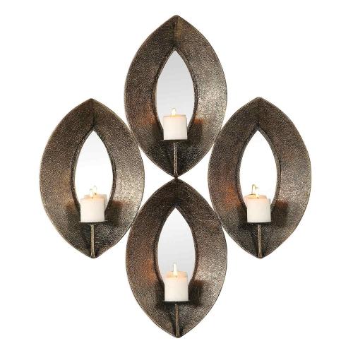 Nina 4-Candle Sconce - Antique Bronze