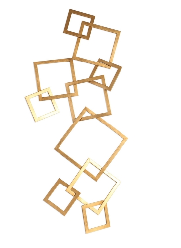 Vida Modern Wall Art - Gold