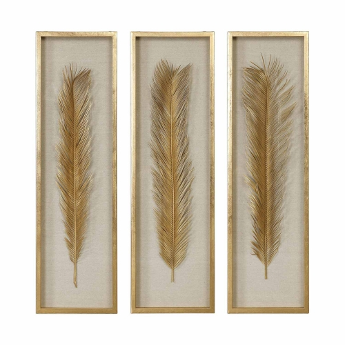Palma Shadow Box - Set of 3 - Gold Leaf