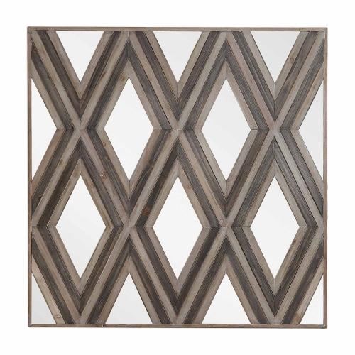 Tahira Geometric Square Wall Mirror