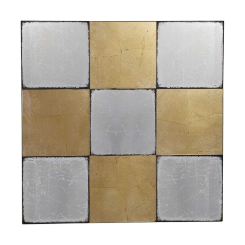 Breena Mirrored Checkerboard Wall Decor