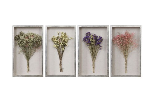 Summer Bouquets Shadow Box - Set of 4