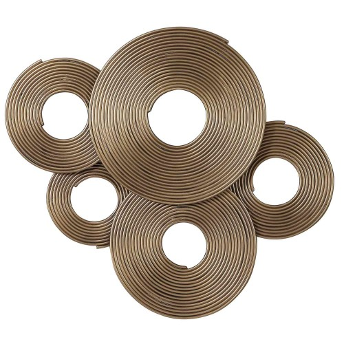Ahmet Rings Wall Decor - Gold