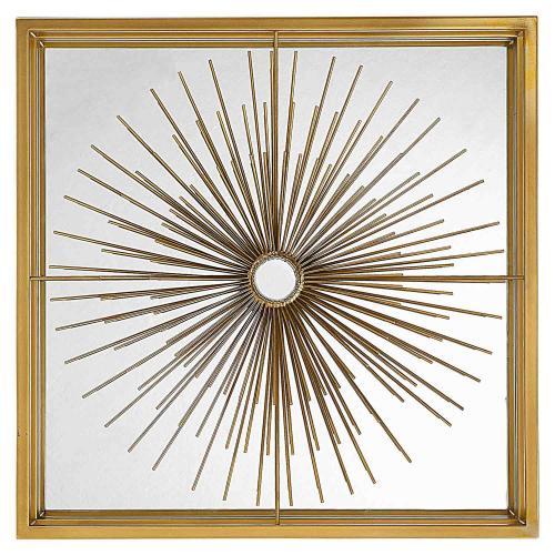 Starlight Mirrored Wall Decor - Brass
