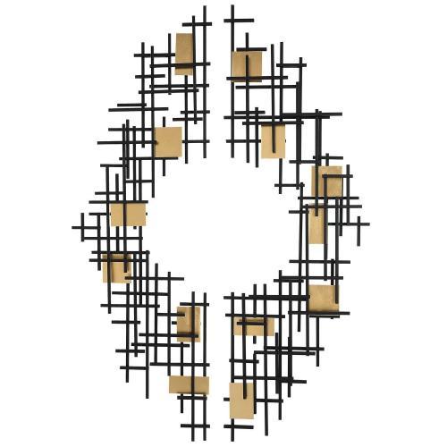 Reflection Metal Grid Wall Decor - Set of 2