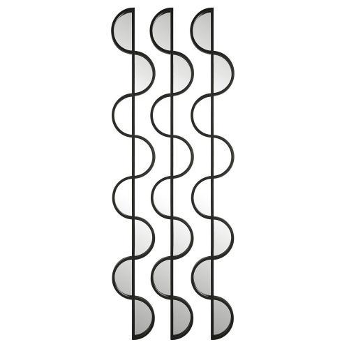 Wisp Mirrored Iron Wall Decor - Set of 3