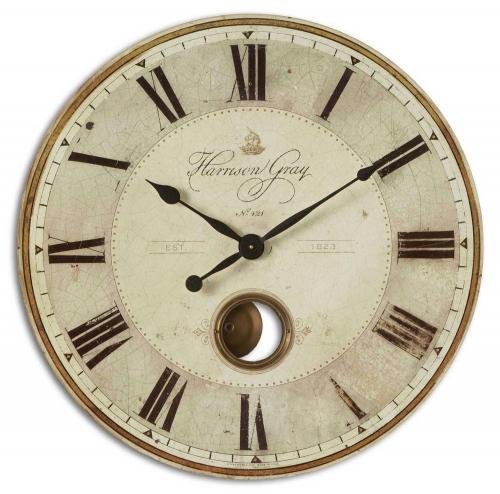 Harrison 30 Inch Clock - Gray