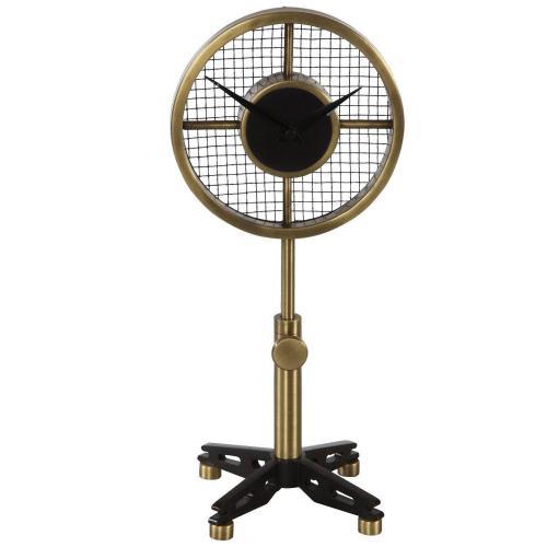 Gio Table Clock - Brass