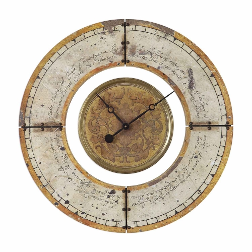 Ezekiel Weathered Wall Clock