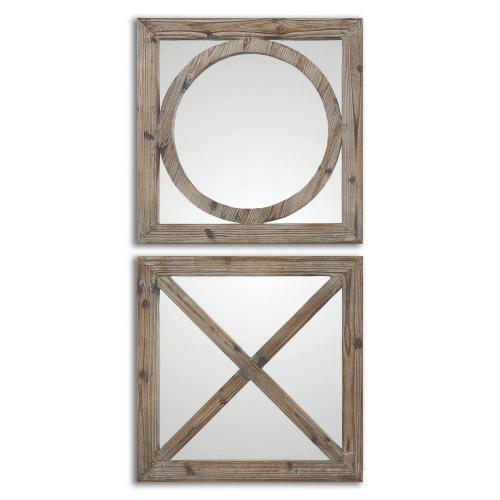 Baci E Abbracci Wooden Mirrors - Set of 2