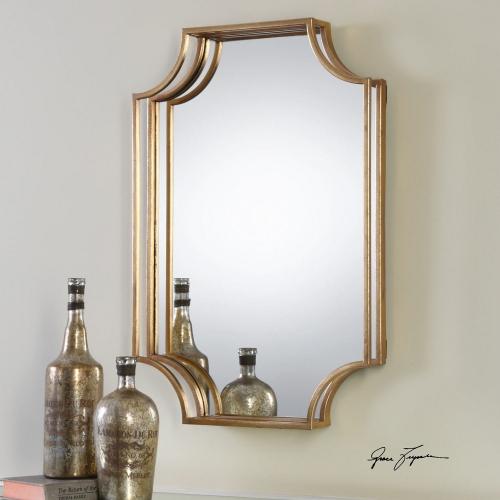 Lindee Gold Wall Mirror