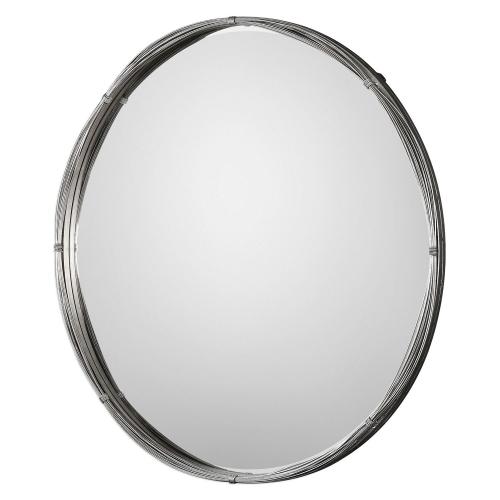 Ohmer Round Metal Coils Mirror