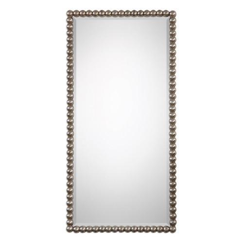 Serna Mirror - Antiqued Silver