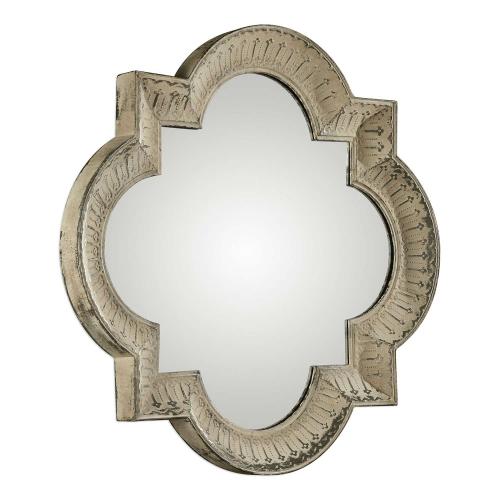 Giada Large Aged Mirror - Ivory
