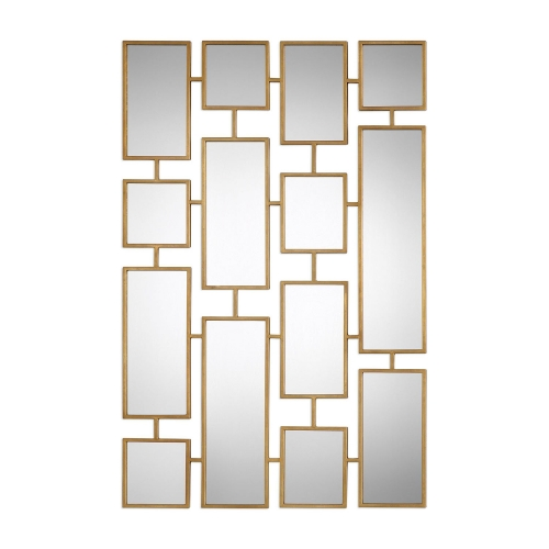 Kennon Forged Rectangles Mirror - Gold