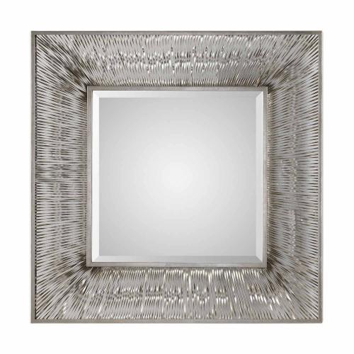Jacenia Square Mirror - Silver